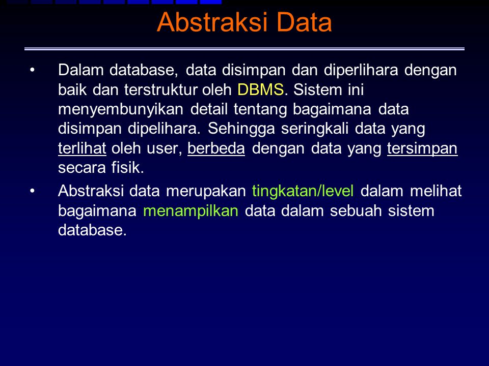 Abstraksi Data
