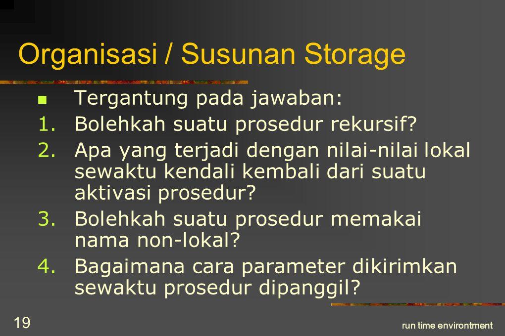 Organisasi / Susunan Storage
