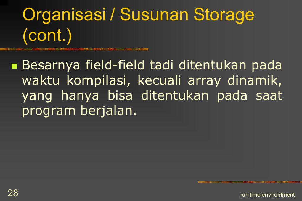 Organisasi / Susunan Storage (cont.)