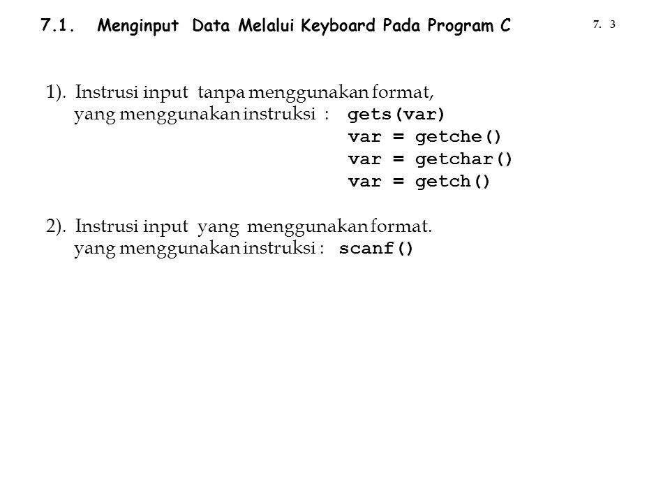 1). Instrusi input tanpa menggunakan format,