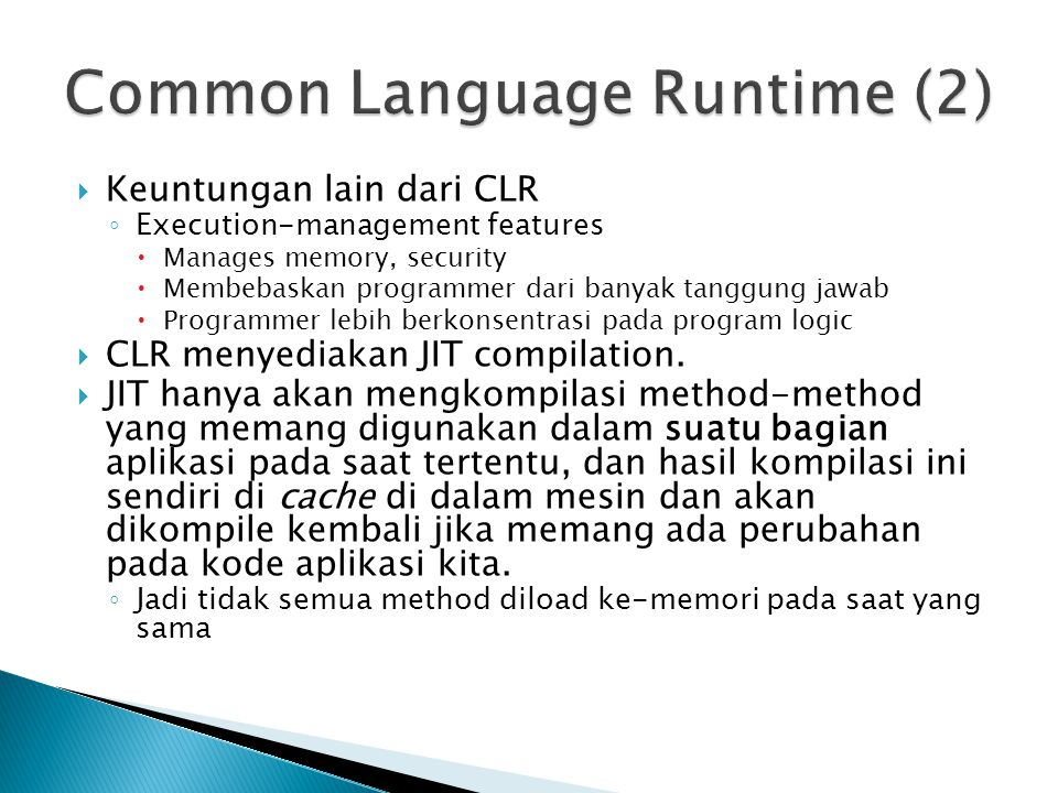 Common Language Runtime (2)