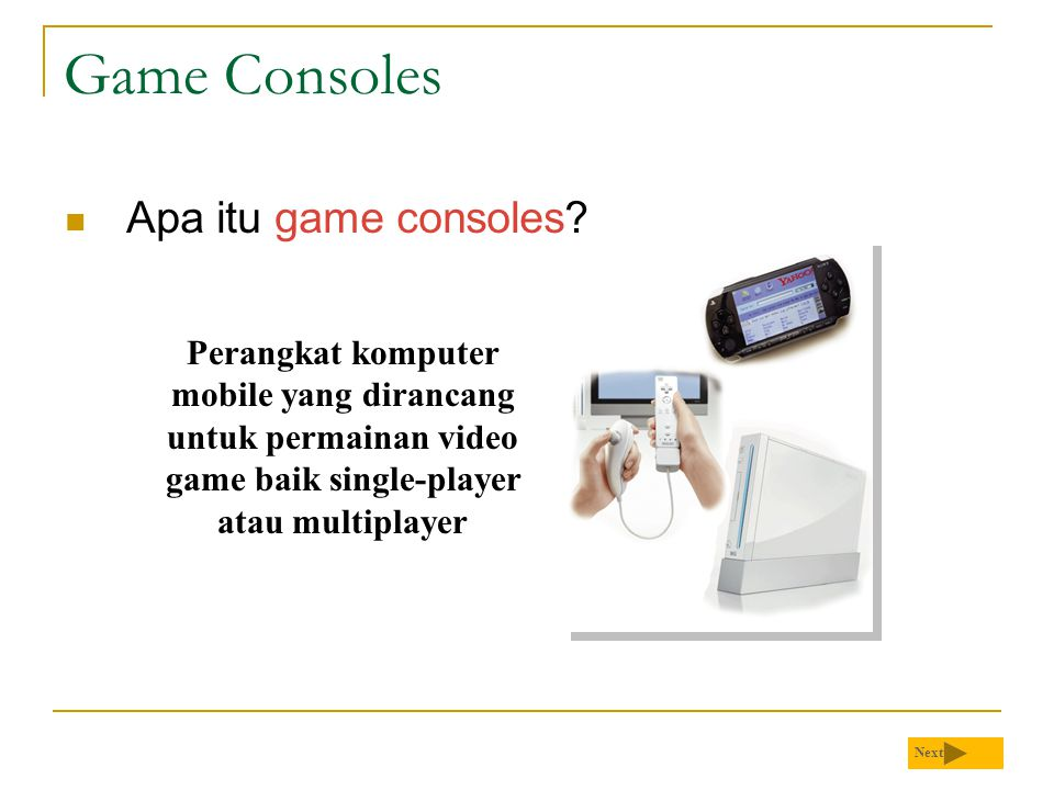 Game Consoles Apa itu game consoles