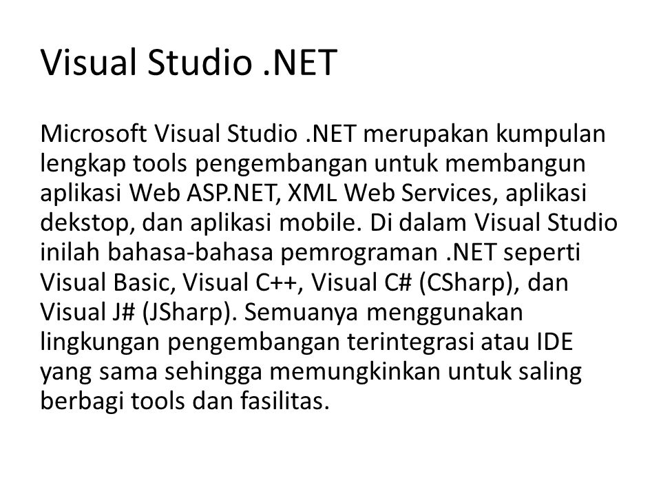 Visual Studio .NET