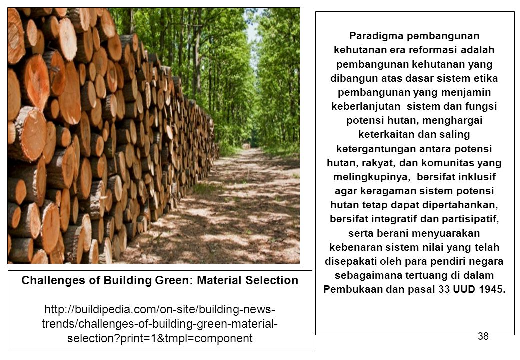 Challenges of Building Green: Material Selection
