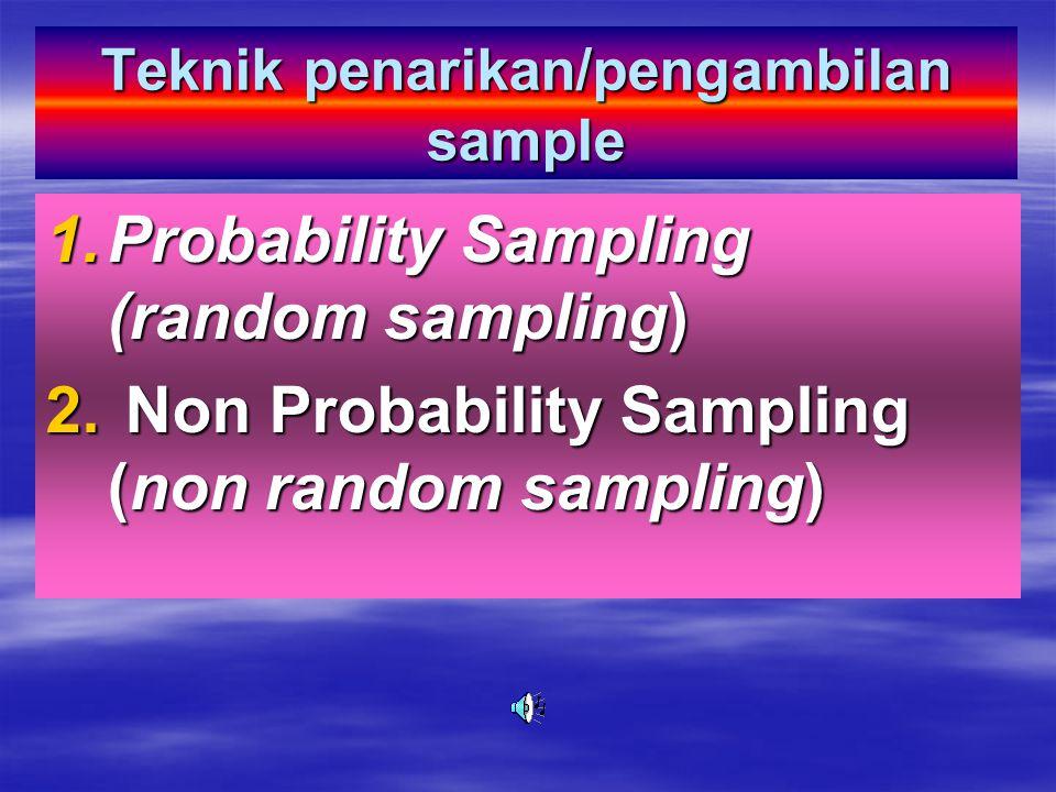 Teknik penarikan/pengambilan sample