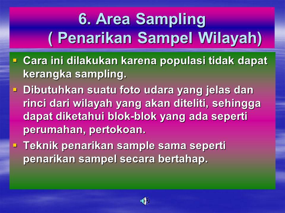 6. Area Sampling ( Penarikan Sampel Wilayah)