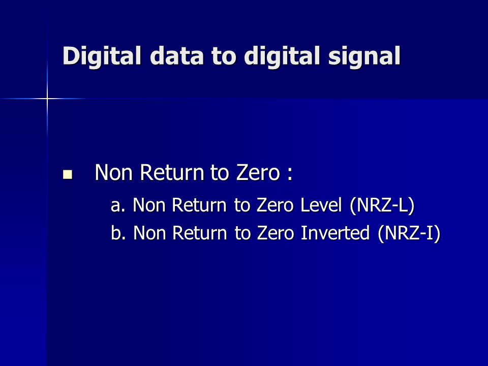 Digital data to digital signal
