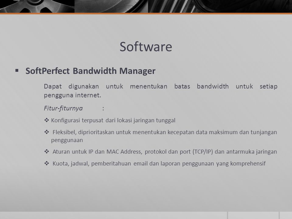 Software SoftPerfect Bandwidth Manager