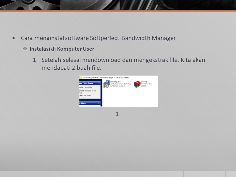 Cara menginstal software Softperfect Bandwidth Manager