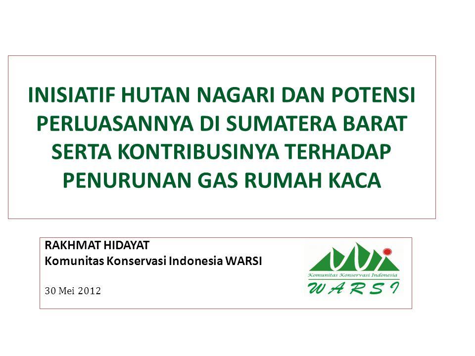 RAKHMAT HIDAYAT Komunitas Konservasi Indonesia WARSI 30 Mei 2012