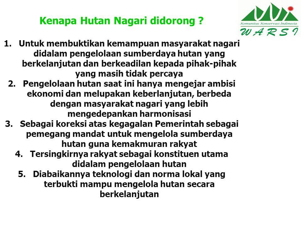 Kenapa Hutan Nagari didorong