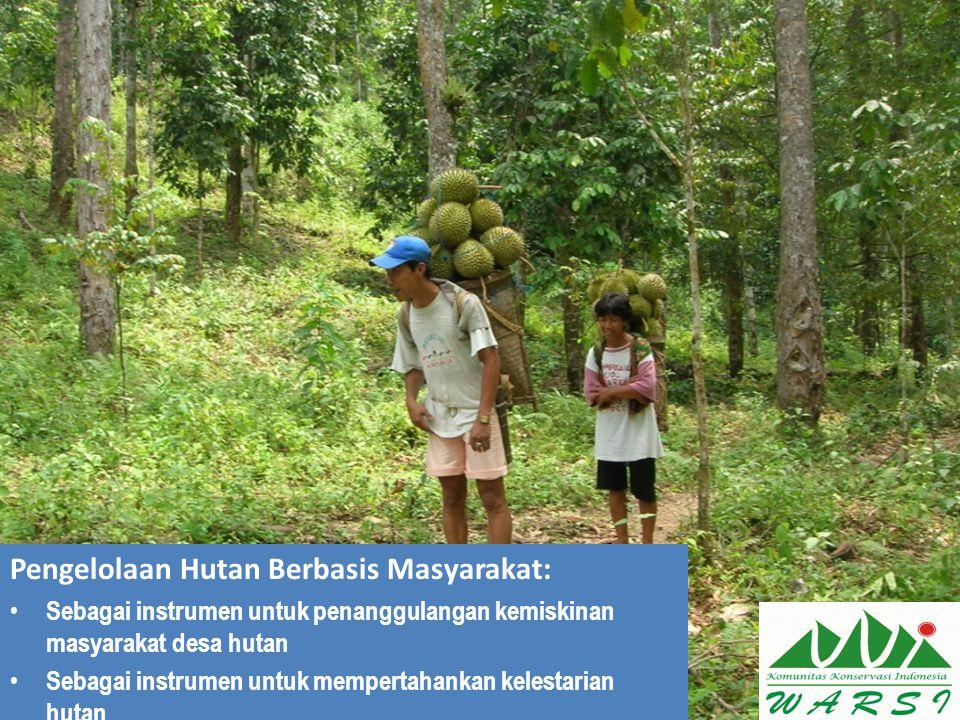 Pengelolaan Hutan Berbasis Masyarakat: