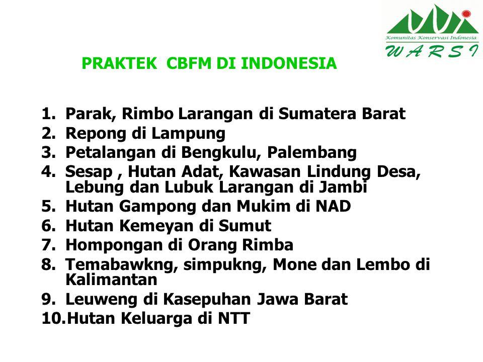 PRAKTEK CBFM DI INDONESIA