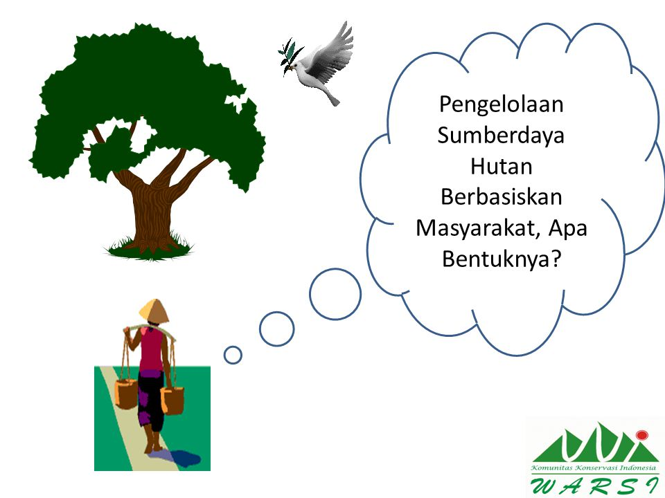 Pengelolaan Sumberdaya Hutan Berbasiskan Masyarakat, Apa Bentuknya