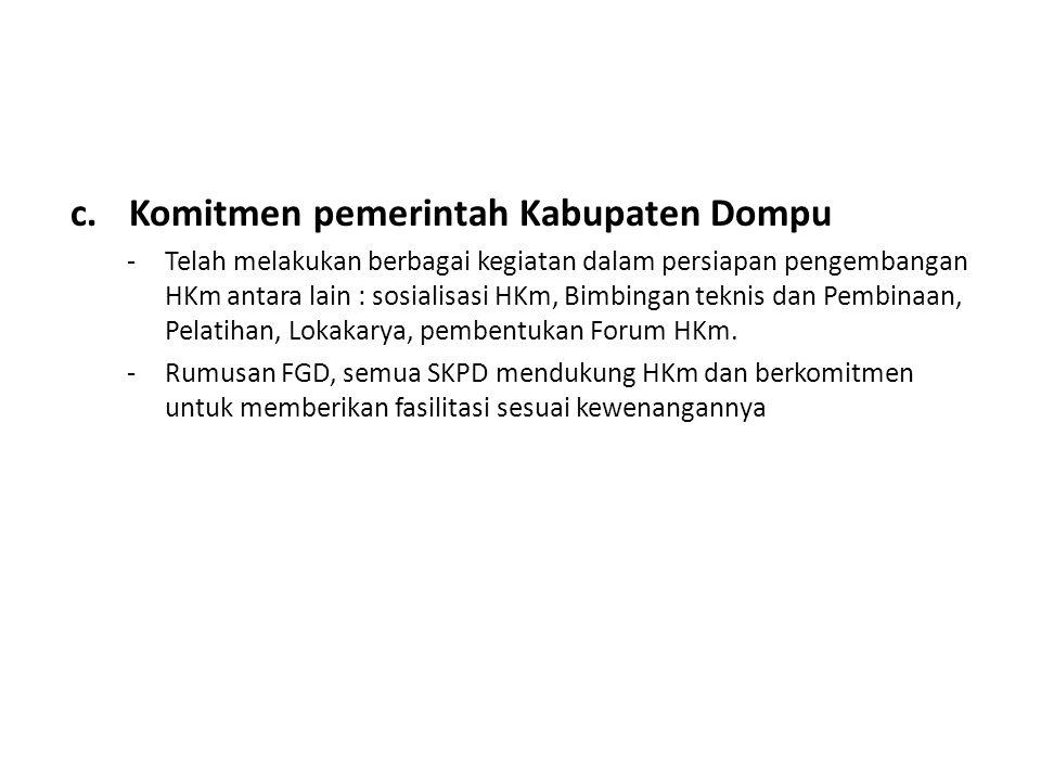 Komitmen pemerintah Kabupaten Dompu