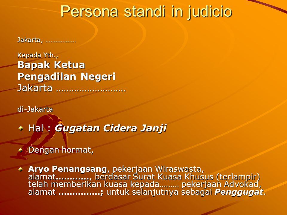 Persona standi in judicio
