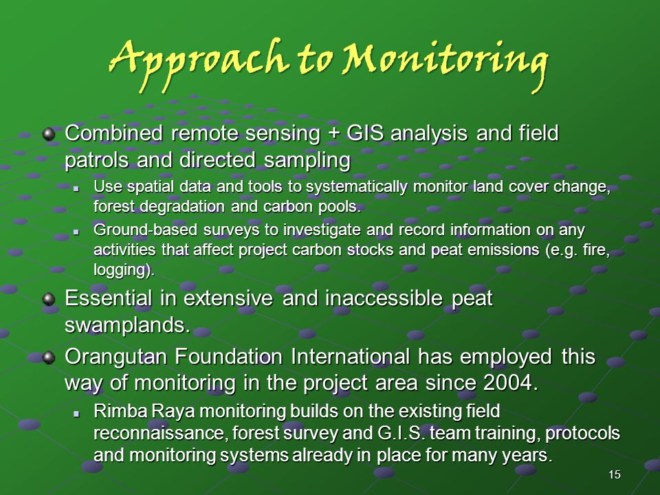 Approach to Monitoring