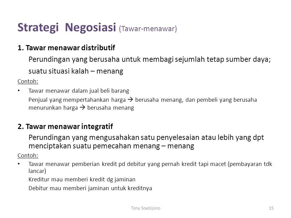Strategi Negosiasi (Tawar-menawar)