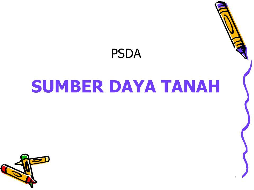 PSDA SUMBER DAYA TANAH