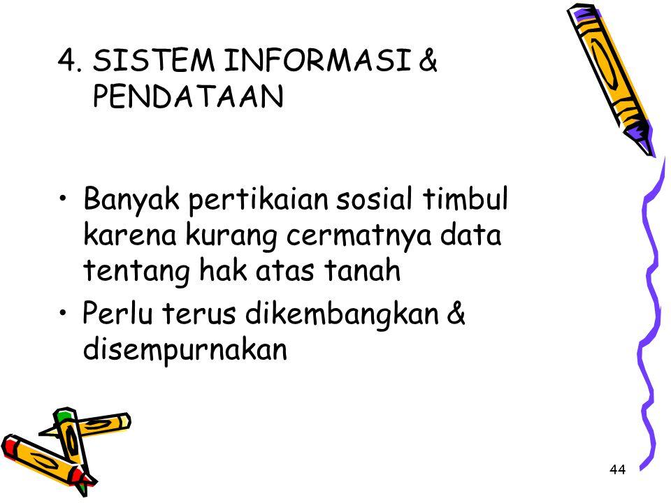 4. SISTEM INFORMASI & PENDATAAN