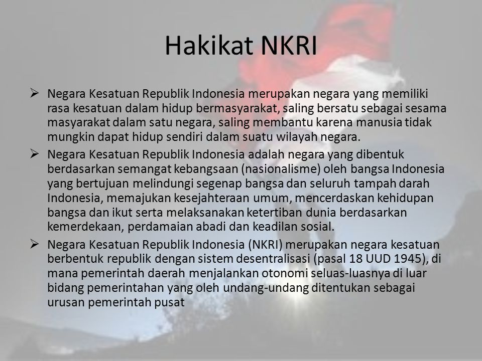 Hakikat NKRI