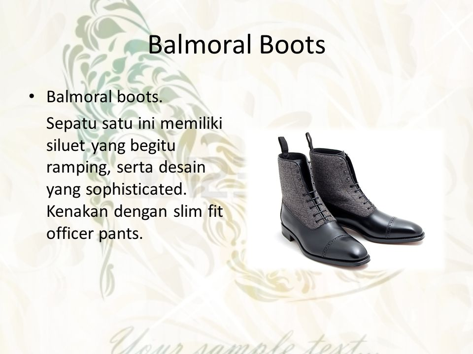 Balmoral Boots Balmoral boots.