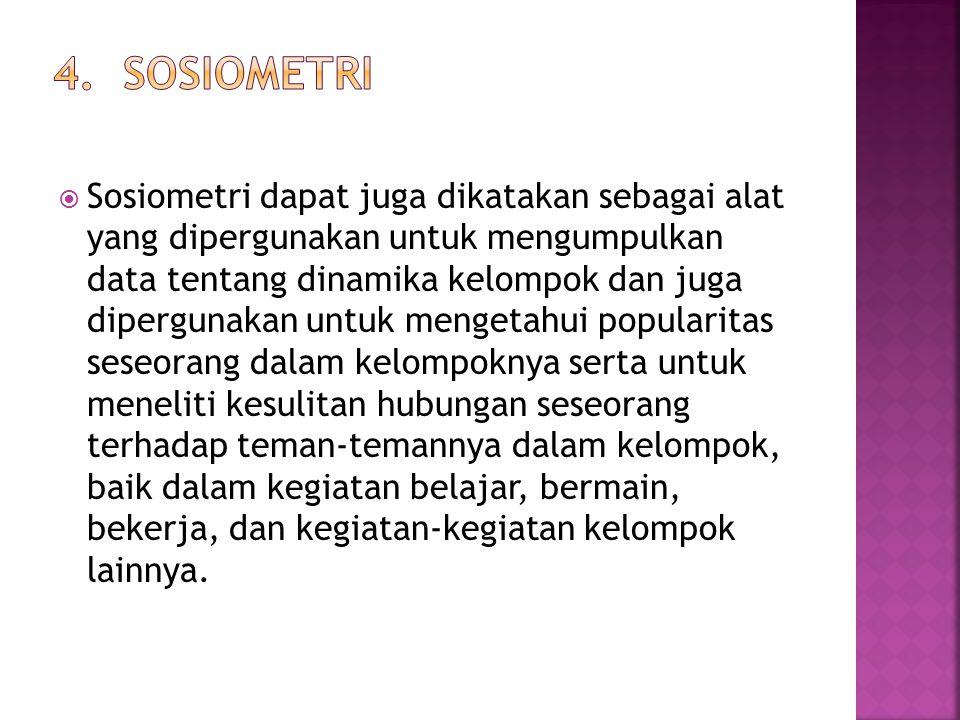 4. Sosiometri