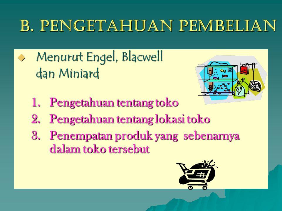 B. Pengetahuan Pembelian