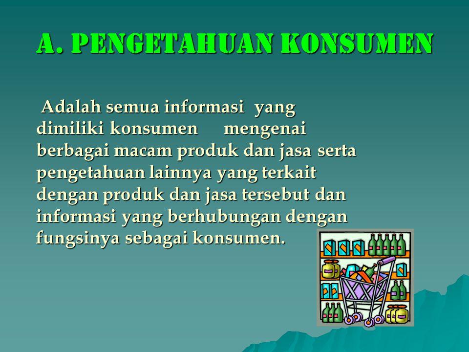 a. Pengetahuan konsumen