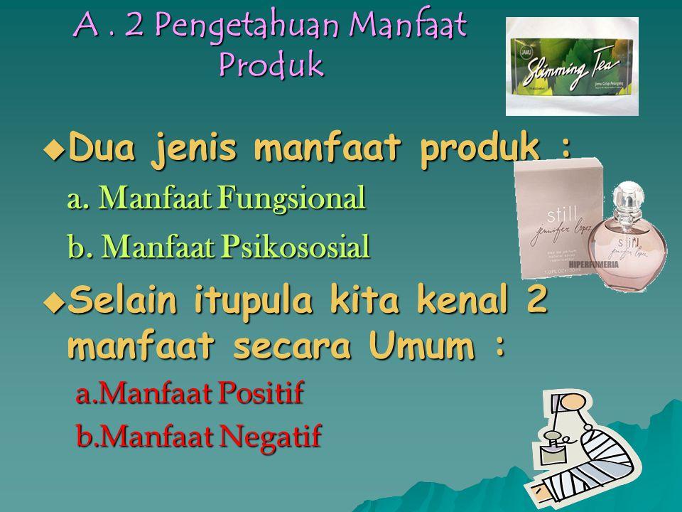 A . 2 Pengetahuan Manfaat Produk