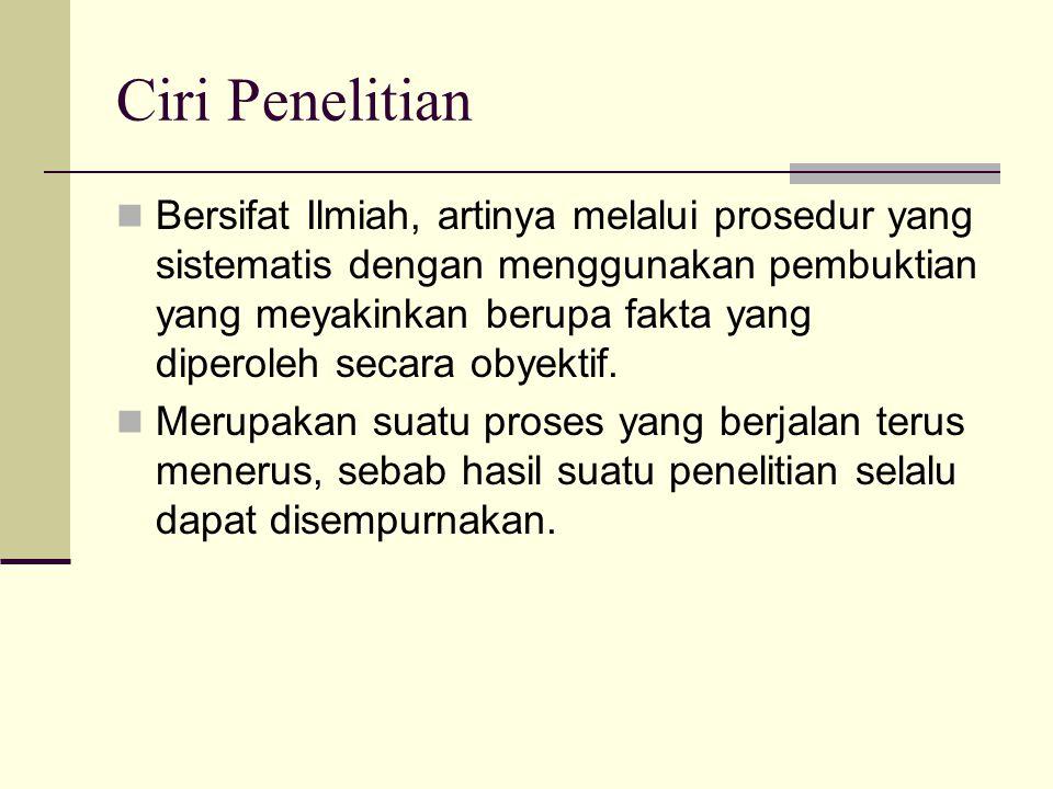 Ciri Penelitian