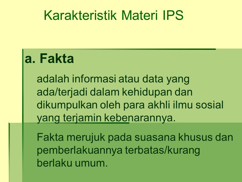 Karakteristik Materi IPS