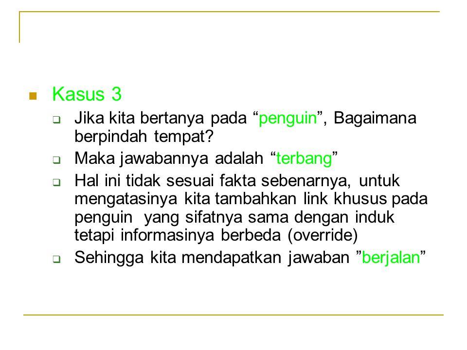 Kasus 3 Jika kita bertanya pada penguin , Bagaimana berpindah tempat