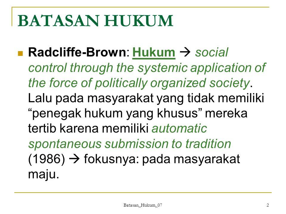 BATASAN HUKUM