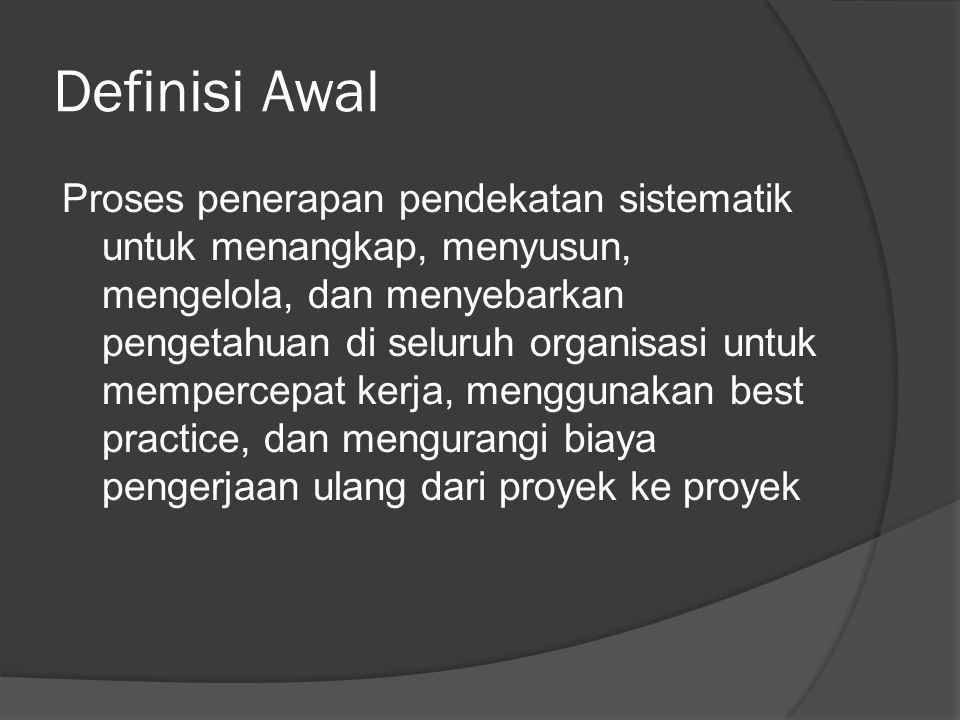 Definisi Awal