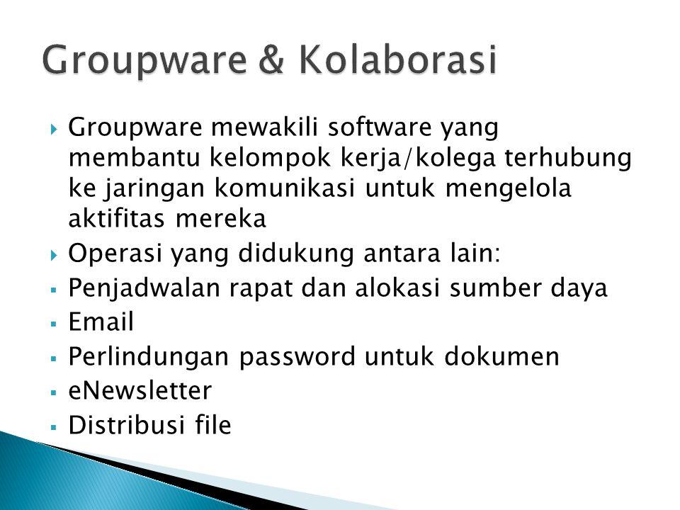 Groupware & Kolaborasi