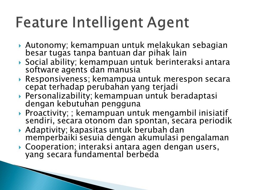 Feature Intelligent Agent