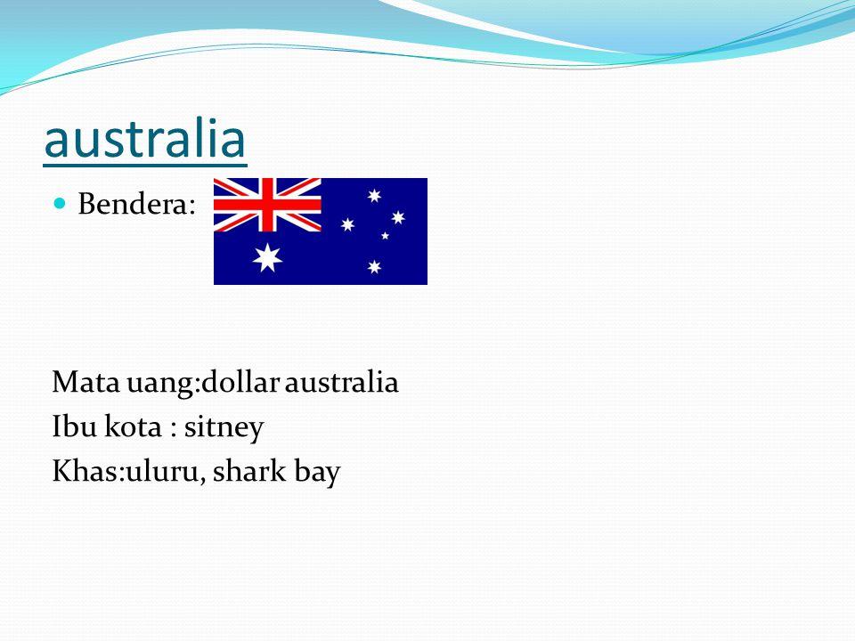 australia Bendera: Mata uang:dollar australia Ibu kota : sitney