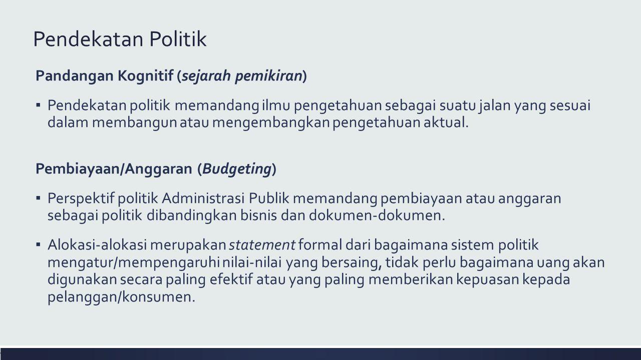 Pendekatan Politik Pandangan Kognitif (sejarah pemikiran)