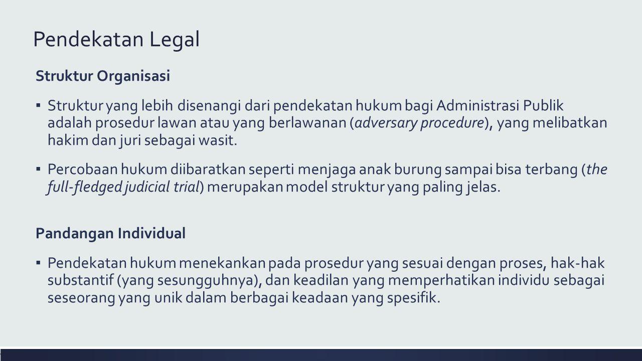 Pendekatan Legal Struktur Organisasi