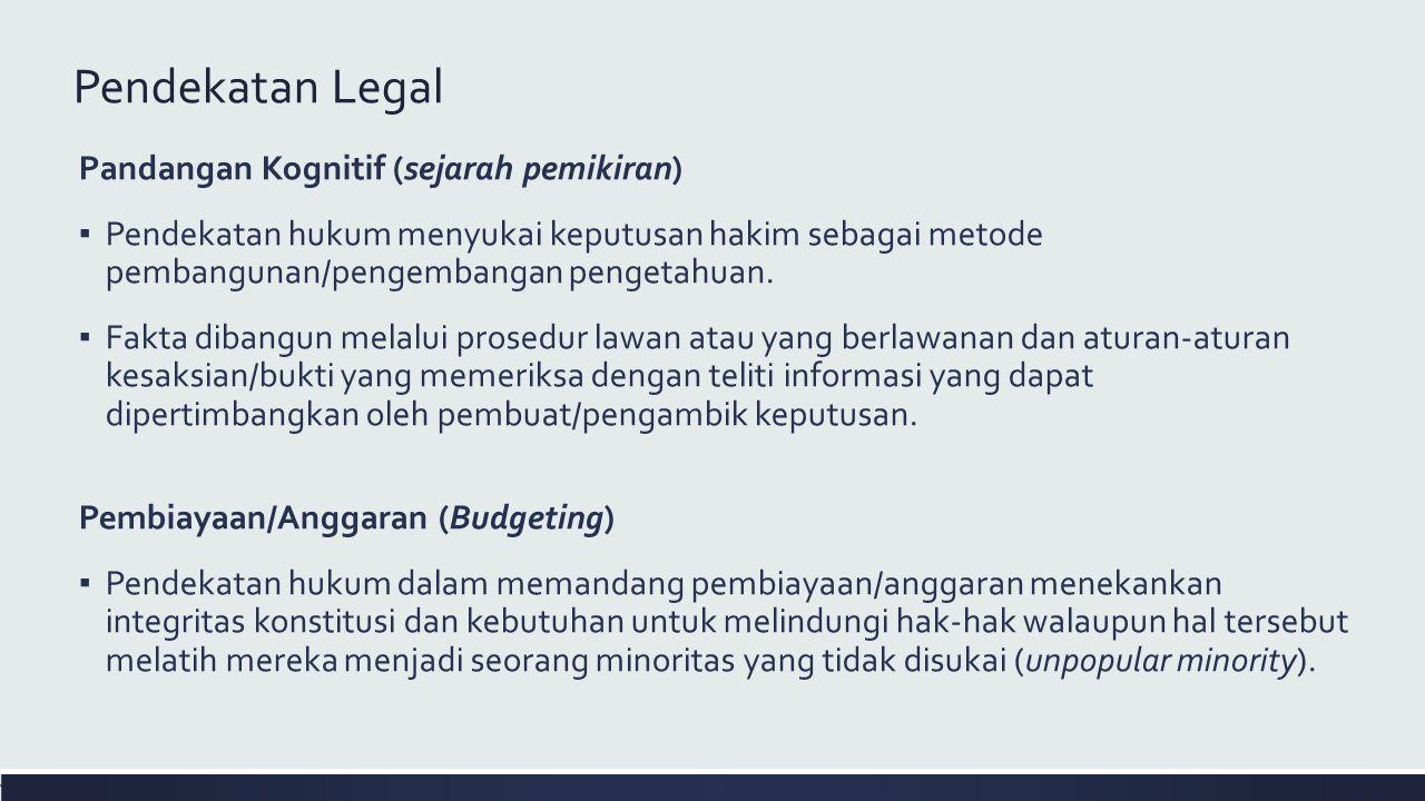 Pendekatan Legal Pandangan Kognitif (sejarah pemikiran)