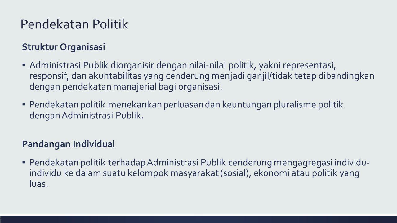 Pendekatan Politik Struktur Organisasi