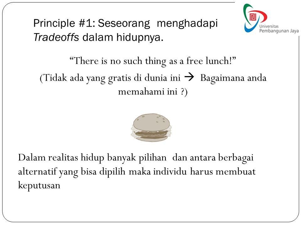 Principle #1: Seseorang menghadapi Tradeoffs dalam hidupnya.