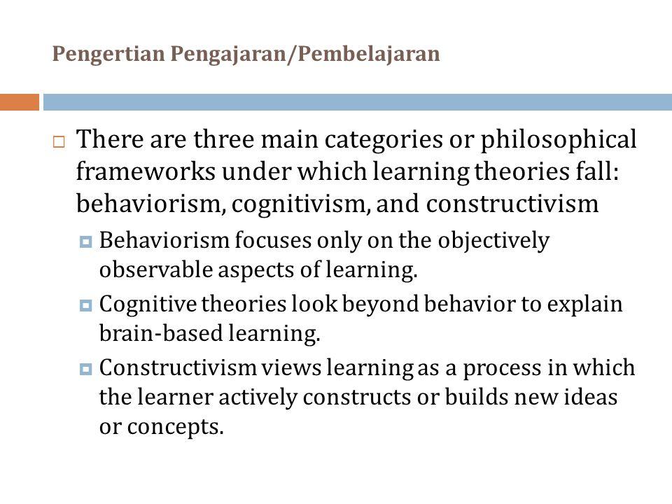 Pengertian Pengajaran/Pembelajaran