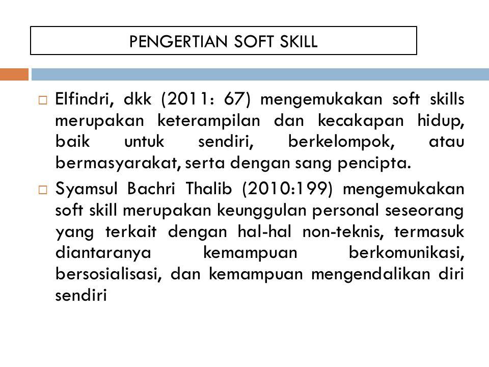 PENGERTIAN SOFT SKILL