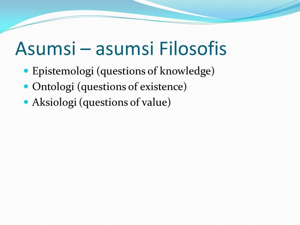 Asumsi – asumsi Filosofis