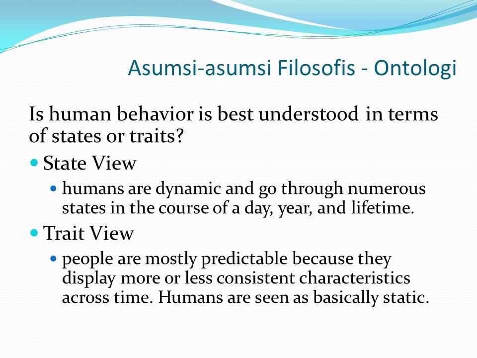 Asumsi-asumsi Filosofis - Ontologi