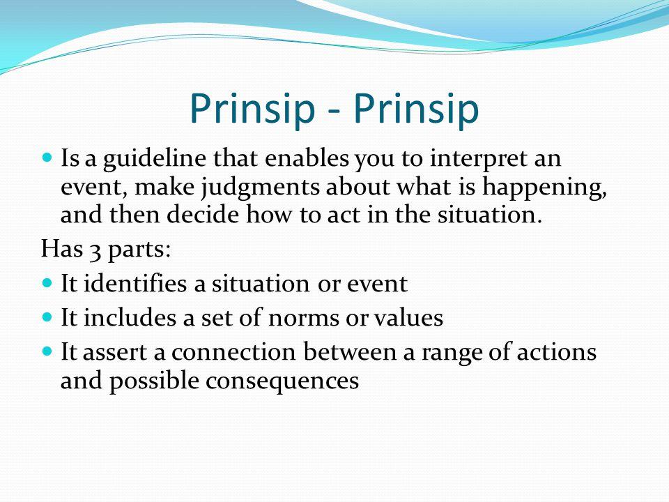 Prinsip - Prinsip