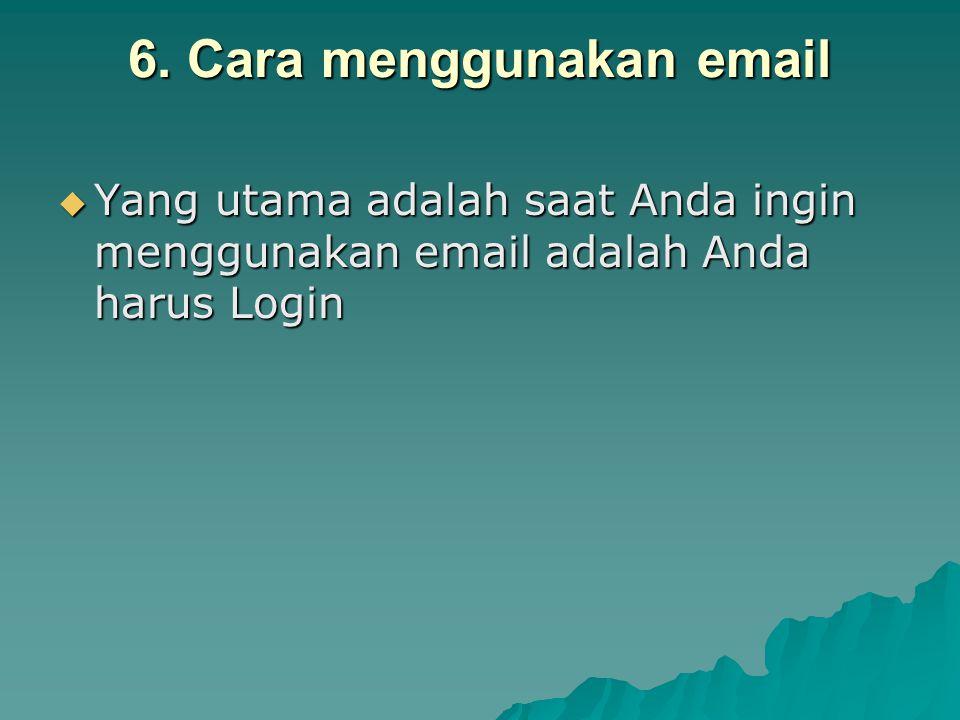 6. Cara menggunakan email