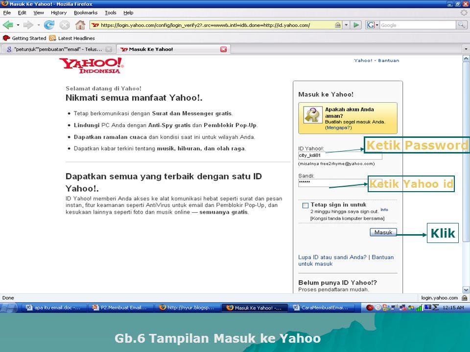 Gb.6 Tampilan Masuk ke Yahoo